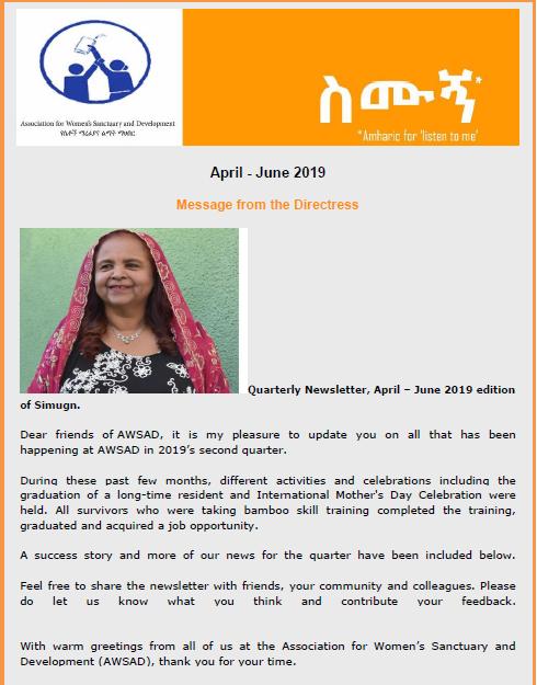 April - June Newsletter 2019